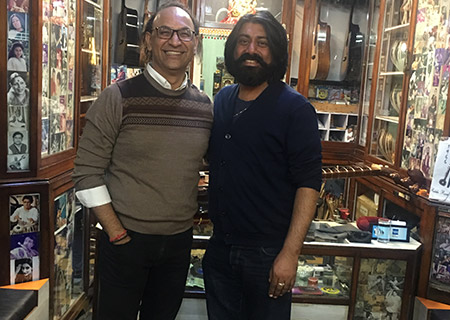 Ajay with Talvin Singh